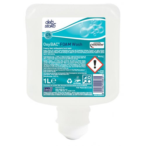 Deb OxyBac Foam Wash Cartridge 1 Litre