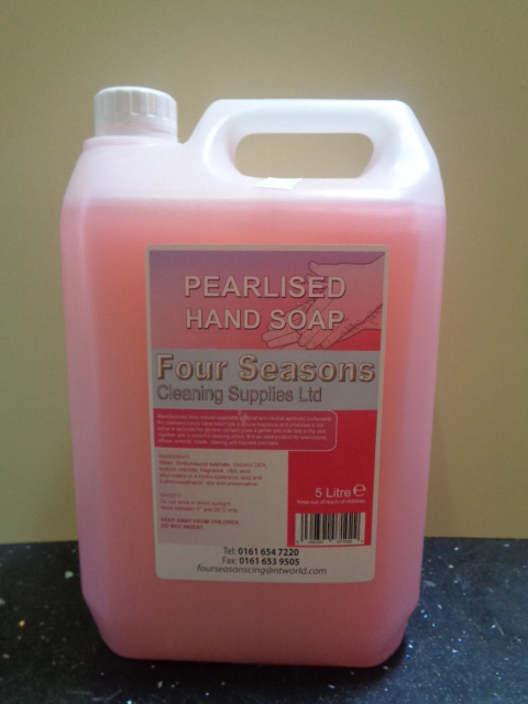 Pink Pearlised Hand soap 5 Litre