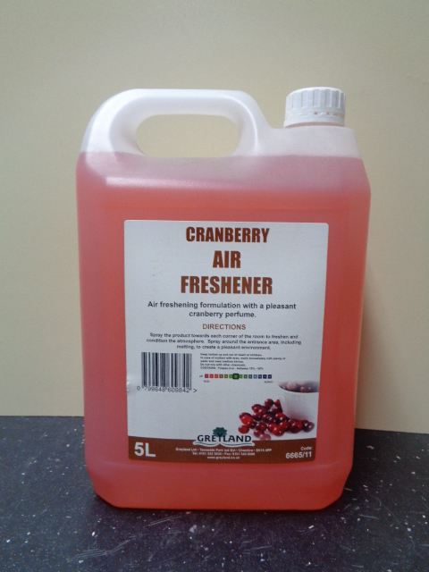 Greylands Cranberry air freshner 5 Litre
