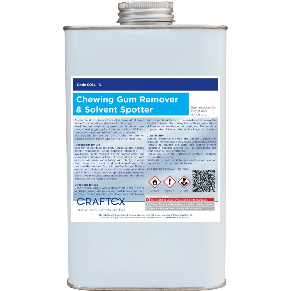 Craftex Chewing Gum Remover and Solvent Spotter 1 Litre