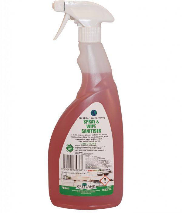 Greylands Spray and Wipe Sanitiser 750ml