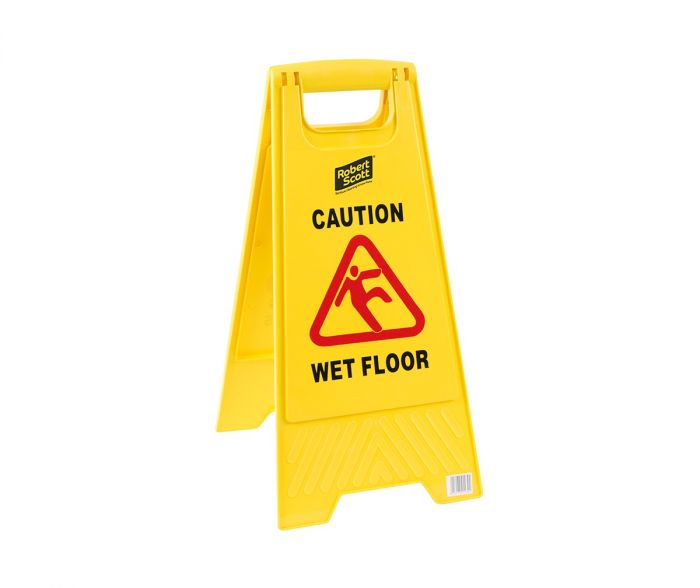 Caution Wet Floor/Cleaning In Progress' safety sign