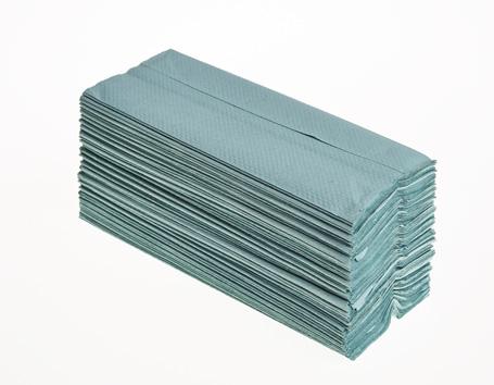 C-Fold Hand Towels Green 1ply Box 2880