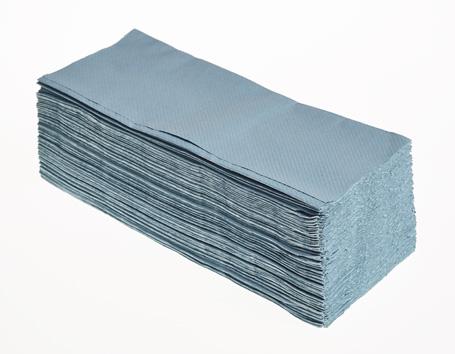 Interleaved Hand Towels Blue 20 x 250