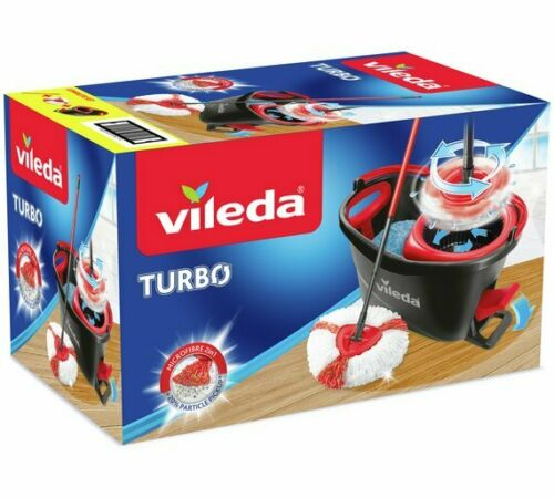 Vileda Turbo mop & bucket set Grey