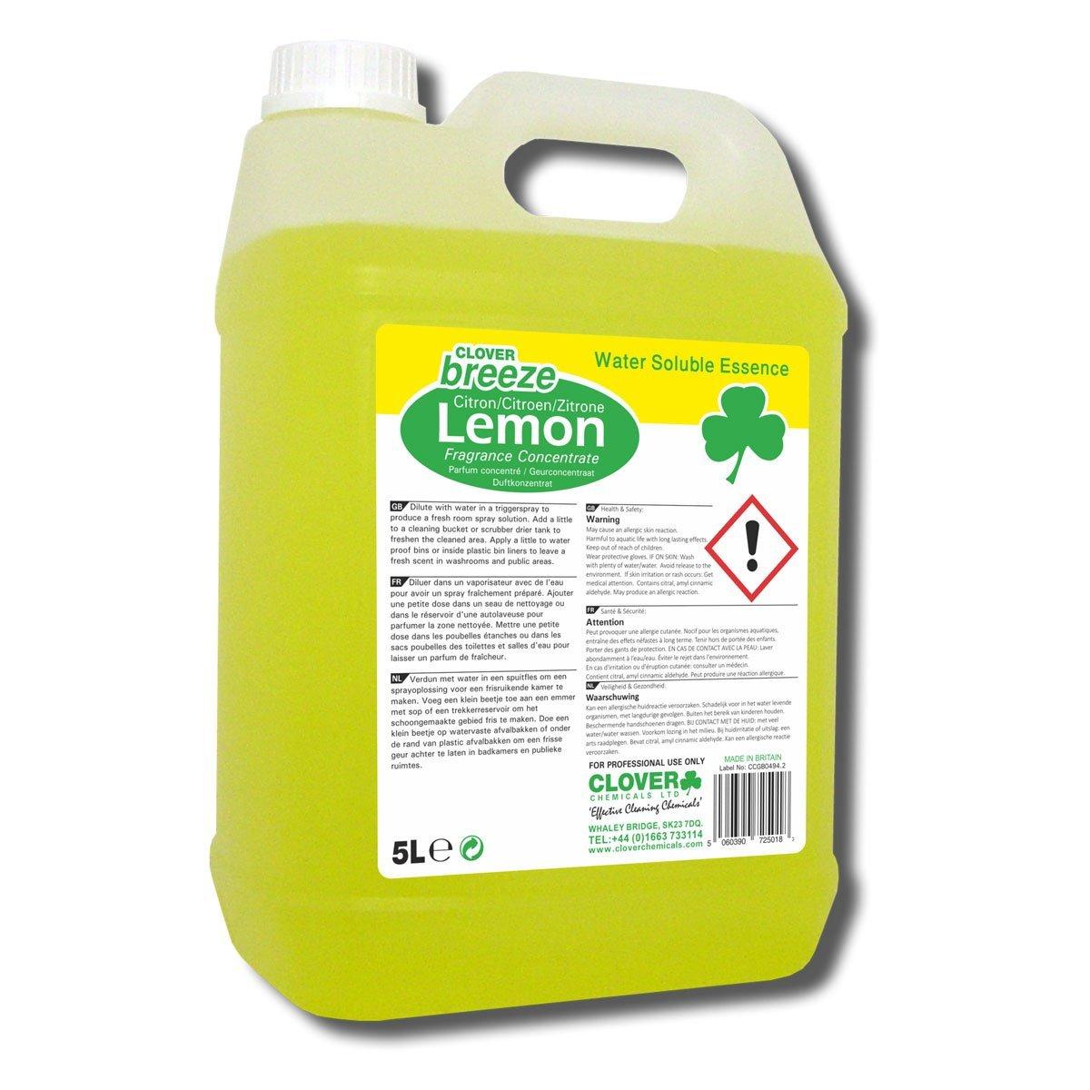 Clover Breeze Lemon Concentrate 5 Litre