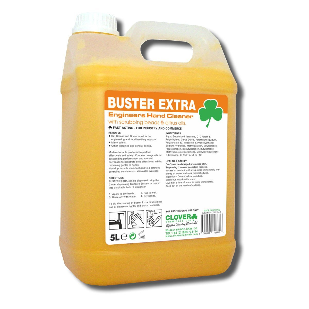 Clover Buster Extra - Engineers Hand Cleaner 5 Litre