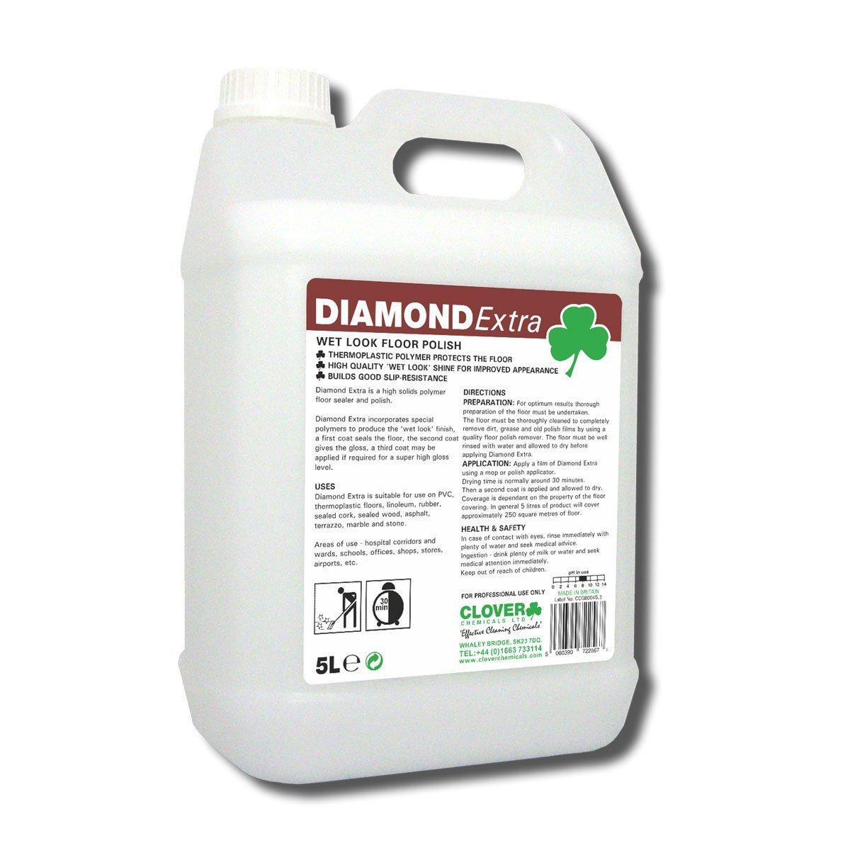 Clover Diamond Extra Wet Floor Polish *5Litre*