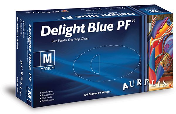 Delight Blue Powder Free Gloves *3 Sizes*