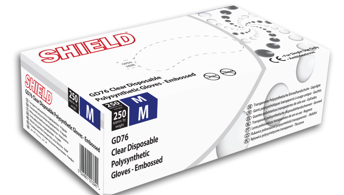 Clear Disposable Polysynthetic Gloves *2 Sizes*