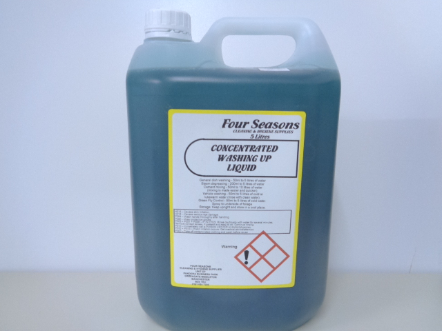 Four Seasons Washing Up Liquid Green Concentrated 20% 5 Litre