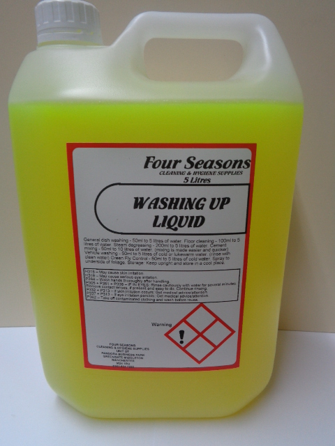 Four Seasons Washing Up liquid Lemon 5 Litre