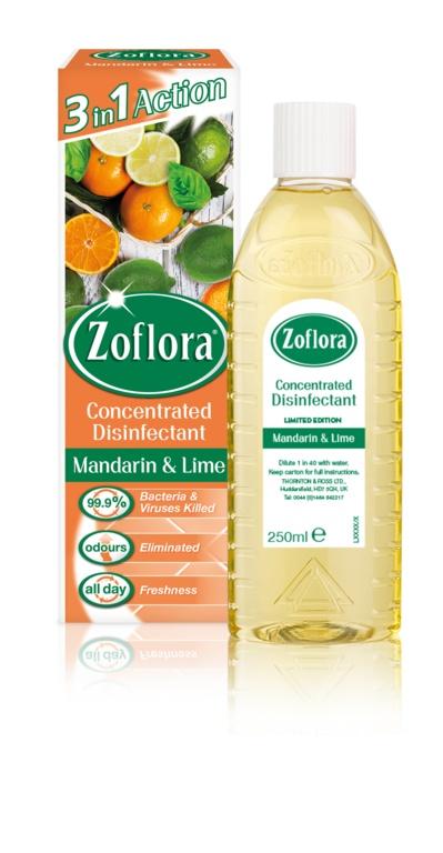 Zoflora Disinfectant 250ML Mandarin & Lime