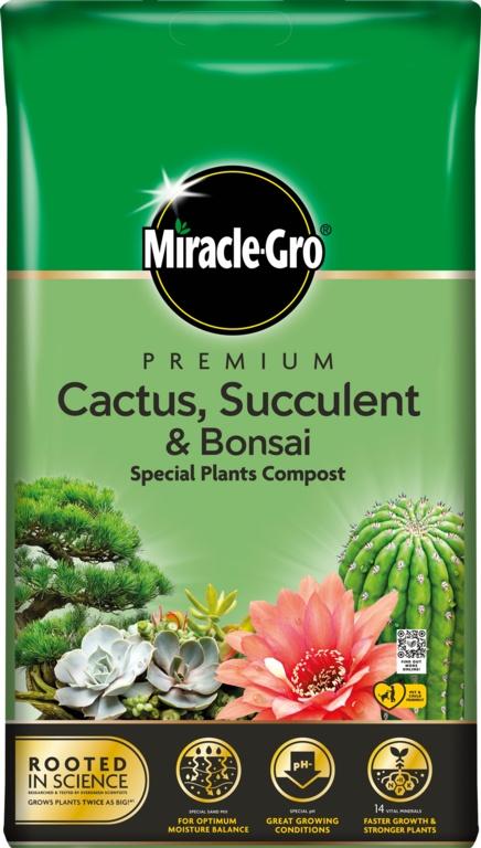 Miracle-Gro Cactus, Succulent & Bonsai Compost 6L