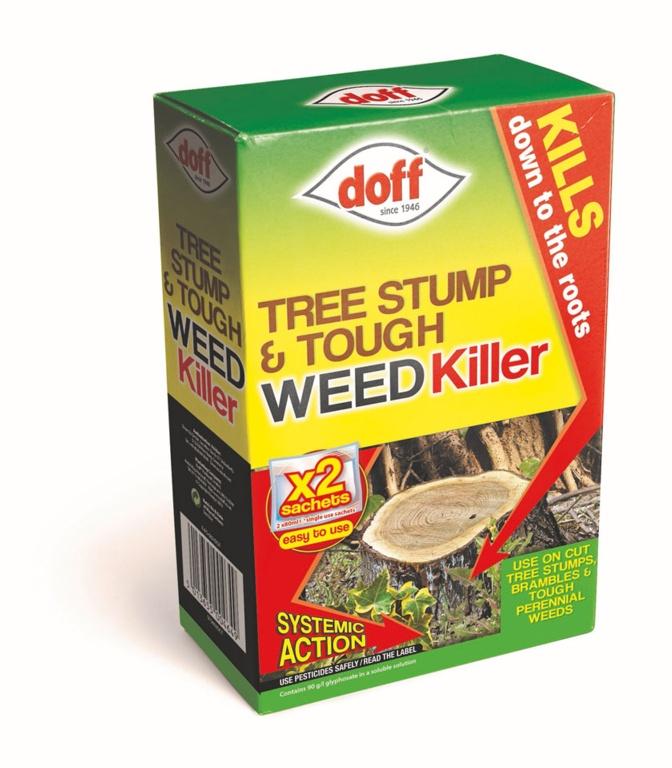Doff Tree Stump & Tough Weedkiller (2 Sachets)