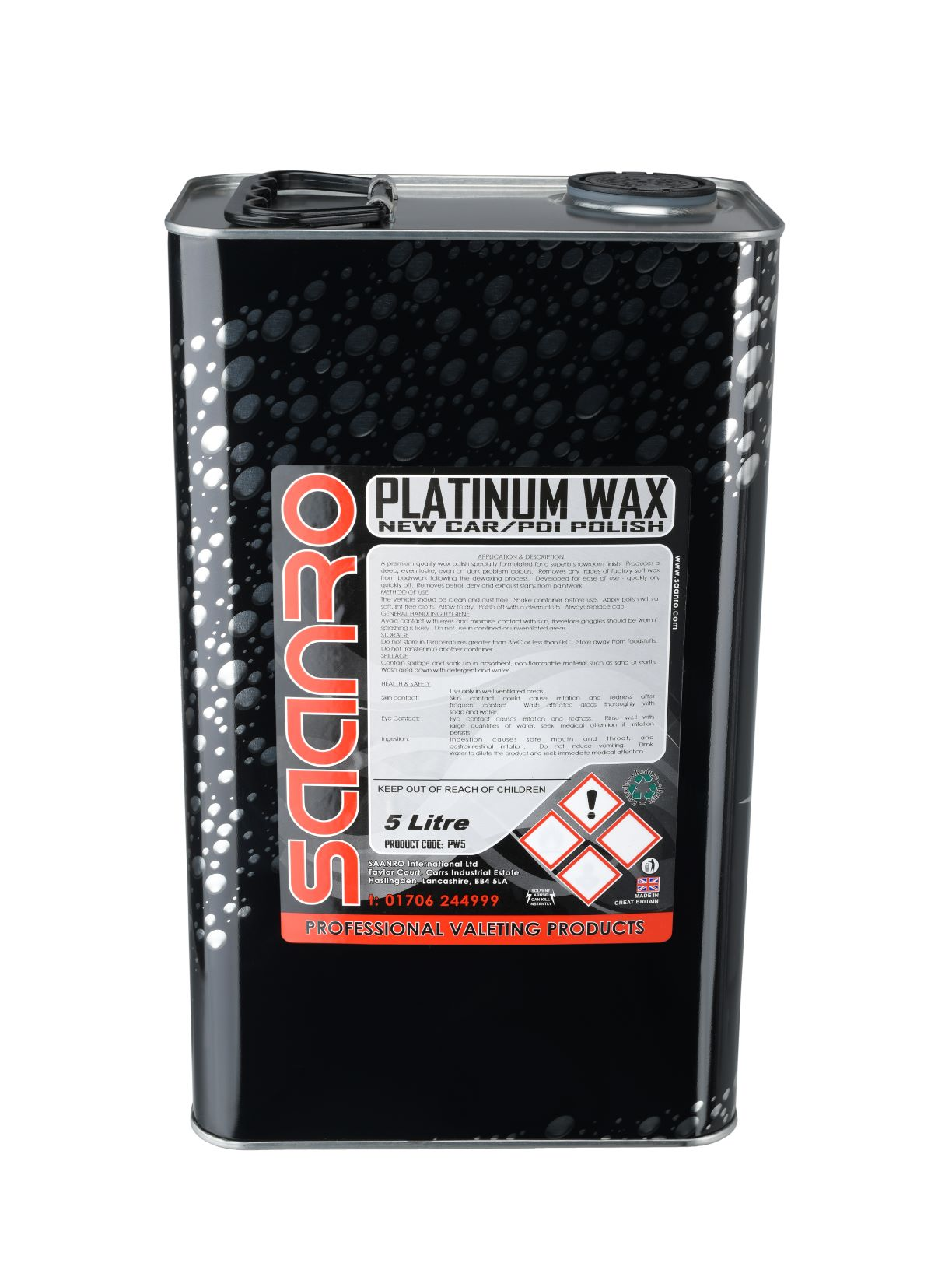 Saanro Platinum Wax 5 Litre