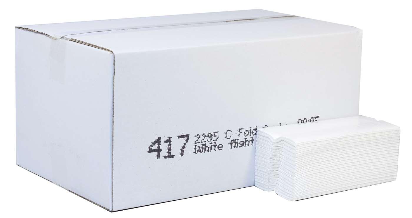 C-Fold Flight Hand Towels White 2ply  Box 2995
