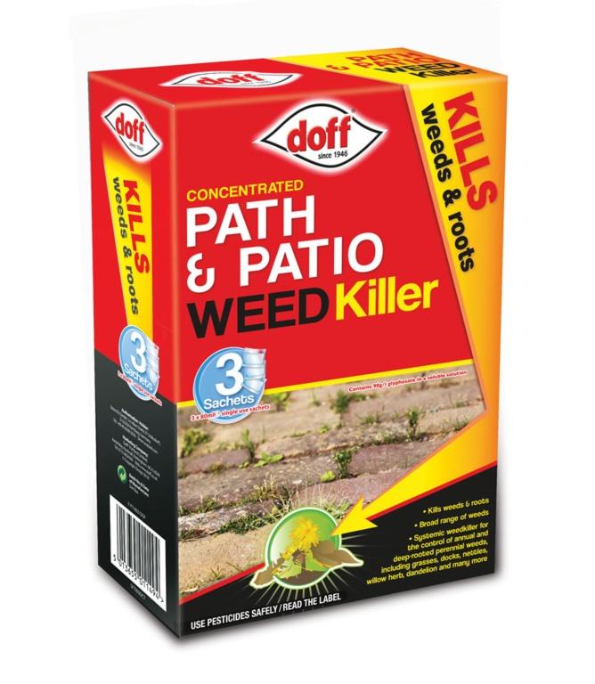 Doff Path & Patio Weedkiller 3 Sachets