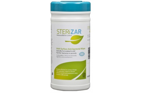 Sterizar Multi Surface Anti-Bacterial Wipes (200 wipes average)