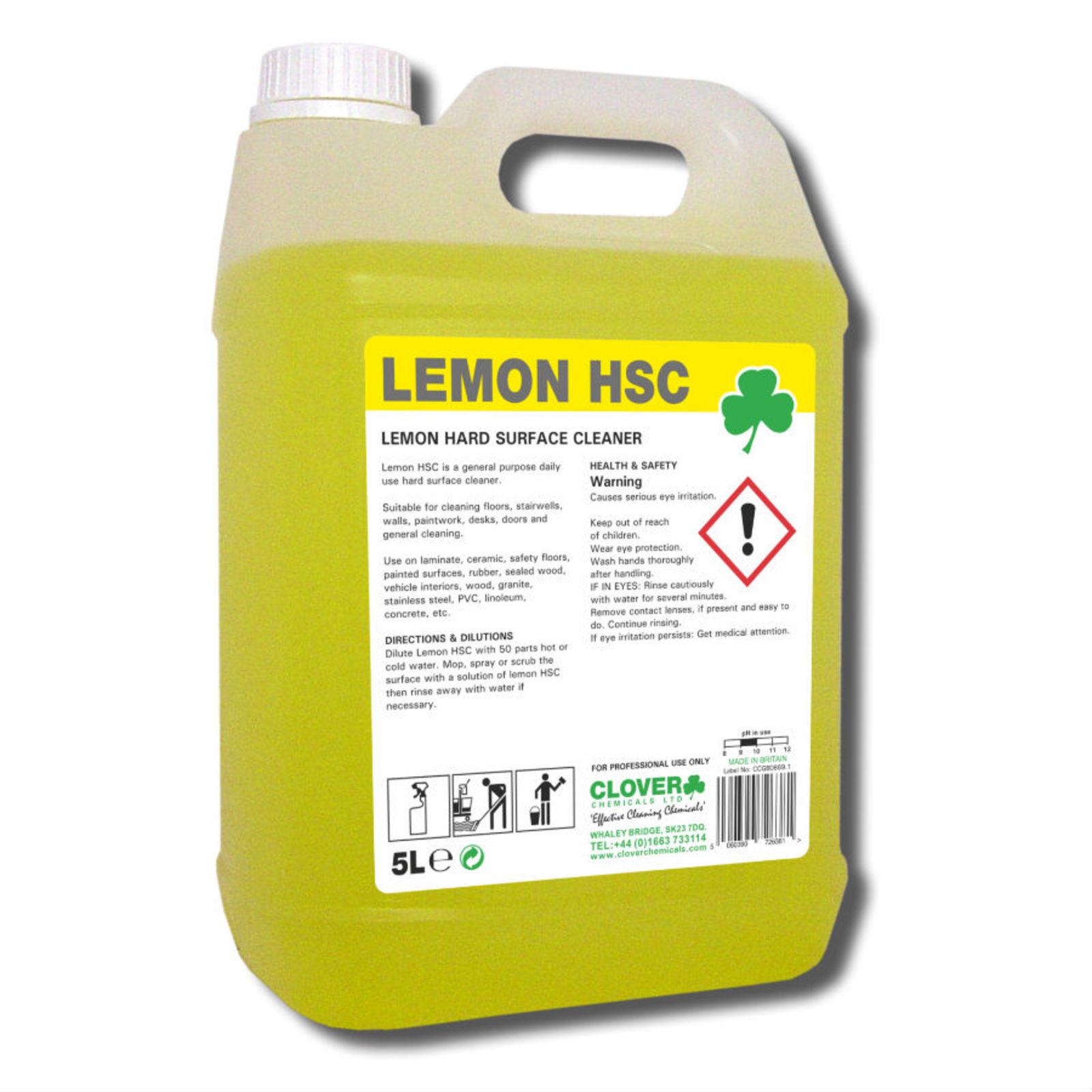 Clover Lemon Hard Surface Cleaner 5 Litre