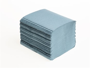Mini Interleaf Hand Towels 1 Ply Blue 40 x 250