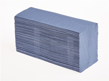 Mertons Z/Fold Hand Towels 1 Ply Blue 15 x 200