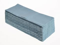Interleaved Hand Towels Blue 20 x 250