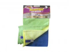 Microfibre Cleaning Cloths Pk3