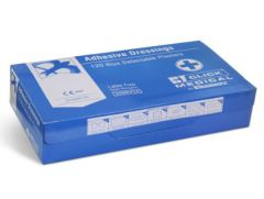 Blue Detectable Plasters 120 Assorted