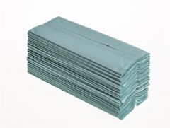 Mertons C/Fold Hand Towels 1 Ply Green 20 x 144