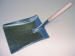 Galvanised metal shovel